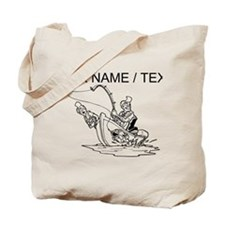 Custom Fishing Cartoon Tote Bag