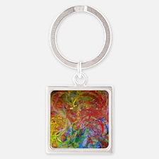 Swirls Square Keychain