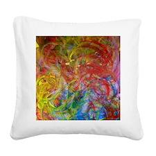 Swirls Square Canvas Pillow
