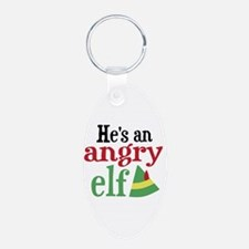 He's an Angry Elf Keychains