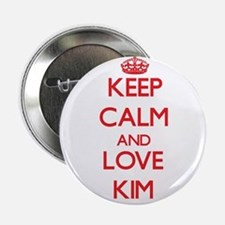 "Keep calm and love Kim 2.25"" Button"