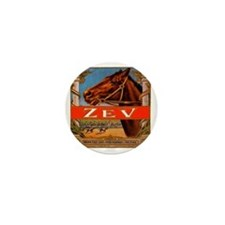 Vintage Cigar Label with Racing Horses Mini Button