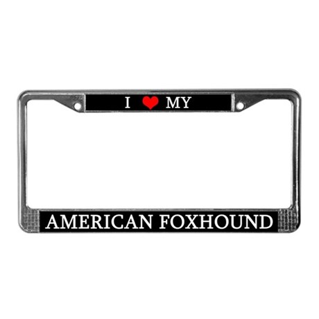 Love American Foxhound License Plate Frame