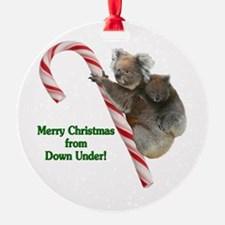 Koalas Climbing Candy Cane Christma Ornament