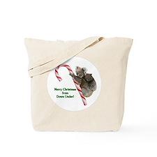 Koalas Climbing Candy Cane Christmas in A Tote Bag