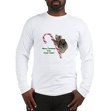 Koalas Climbing Candy Cane Chr Long Sleeve T-Shirt