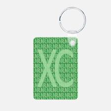 XC Run Run Green Keychains