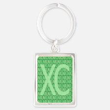XC Run Run Green Portrait Keychain