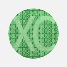 """XC Run Run Green 3.5"""" Button"""