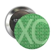 "XC Run Run Green 2.25"" Button"