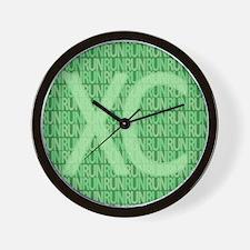 XC Run Run Green Wall Clock