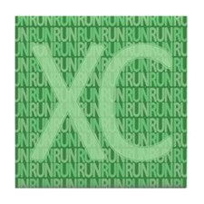 XC Run Run Green Tile Coaster