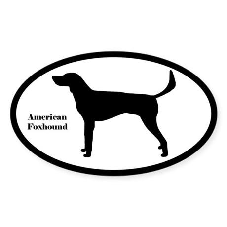 American Foxhound Silhouette Sticker