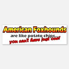 Potato Chips American Foxhound Bumper Car Car Sticker