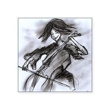 "cellist Square Sticker 3"" x 3"""