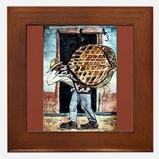 Diego Rivera Art Framed Tile Man Carrying Baskets