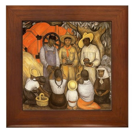 Diego Rivera Art Framed Tile Triumph of Revolution