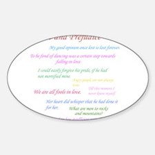 Pride and Prejudice Quotes Decal