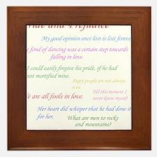Pride and Prejudice Quotes Framed Tile
