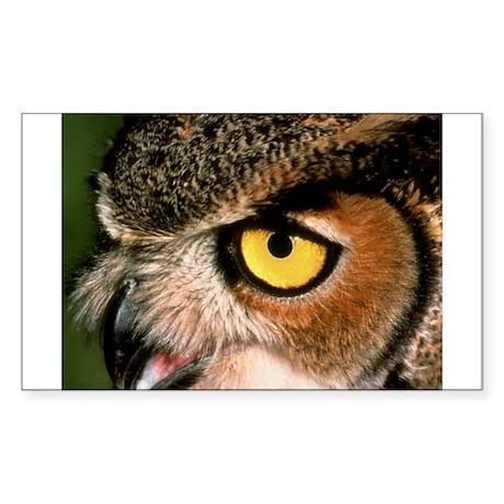 Great Horned Owl Rectangle Sticker