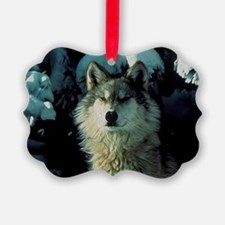 Snow Wolf Ornament