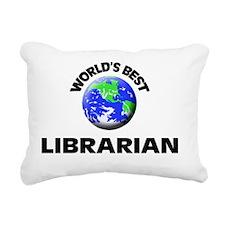 World's Best Librarian Rectangular Canvas Pillow