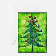 Holiday Marijuana Tree Greeting Cards