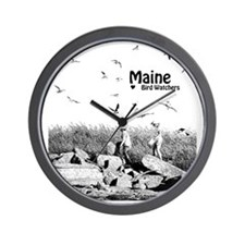 Maine loves Bird Watchers Wall Clock