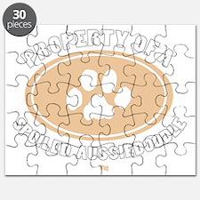 3-Dog Walker Aussiedoodle-B Puzzle
