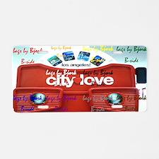 city of love clutch bag b-s Aluminum License Plate