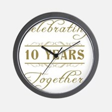 Celebrating 10 Years Together Wall Clock