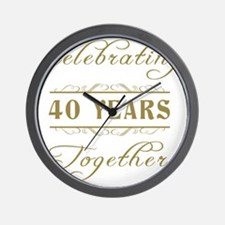 Celebrating 40 Years Together Wall Clock