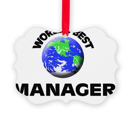 World's Best Manager Picture Ornament