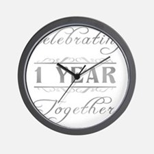 Celebrating 1 Year Together Wall Clock