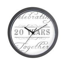 Celebrating 20 Years Together Wall Clock