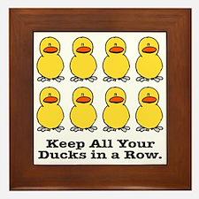All Your Ducks in a Row Framed Tile