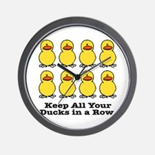 All Your Ducks in a Row Wall Clock