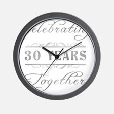 Celebrating 30 Years Together Wall Clock