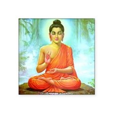 "Big Buddha Square Sticker 3"" x 3"""