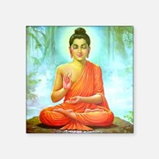 "Big Buddha Square Sticker 3"" x 3"""