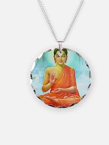 Big Buddha Necklace Circle Charm