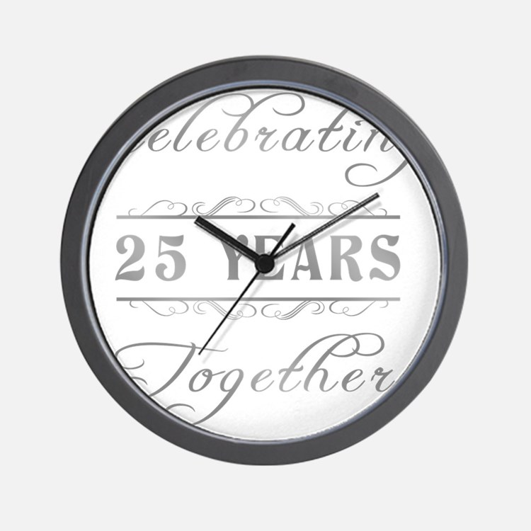 Celebrating 25 Years Together Wall Clock