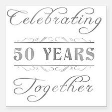 "Celebrating 50 Years Tog Square Car Magnet 3"" x 3"""