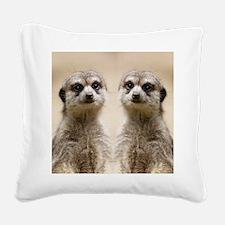 Meerkat Square Canvas Pillow