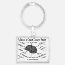 Atlas of a great danes brain Landscape Keychain