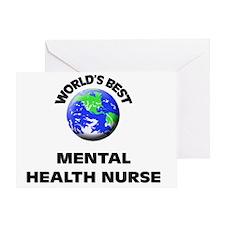 World's Best Mental Health Nurse Greeting Card