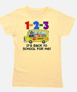 123 Back To School Girl's Tee