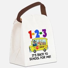 123 Back To School Canvas Lunch Bag