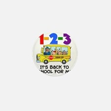 123 Back To School Mini Button