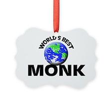 World's Best Monk Ornament